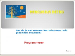 mercurius retro